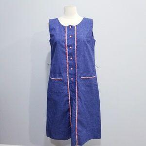Vintage 60's 70's retro mid style dress Large